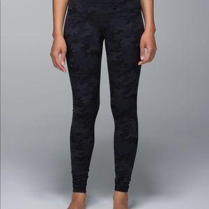 Black Camo Lululemon Leggings
